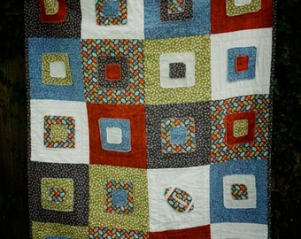 Baby Quilt - Modern Quilt - Football - Football Quilt - Toddler Quilt - Baby Blanket - Shower gift - Photography Prop