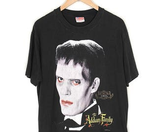 Vintage Addams Family T-shirt - 1991 The Addams Family Lurch T-shirt - 90s Addams Family Horror Cult Film Faded Black T-shirt