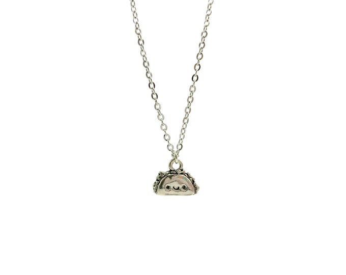 HAPPY TACO: adorable dainty stainless steel necklace