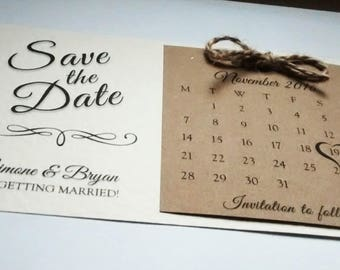"Save the date ""Simone"" twine"
