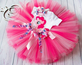 Pink My Little Pony First 1st 2nd 3rd Birthday Pinkie Pie tutu Birthday Tutu Set baby tutu Pinkie Pie 1 from Europe
