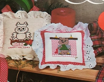 SUMMERSALE Christmas Critters by Krazy Stitches counted cross stitch design booklet