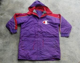 Vintage Champion Long Jacket Nice Colors Jacket #03