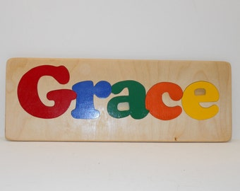Personalized Name Puzzle Capital and Lower Case Letters