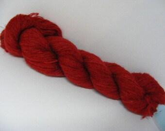 DESTASH SALE... Was 8.50... Now 6.00... Ruby Red Merino Wool Mohair Blend Yarn...50 grams...210yd