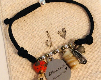 Blessed mama bracelet