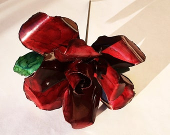 Red Steel Rose