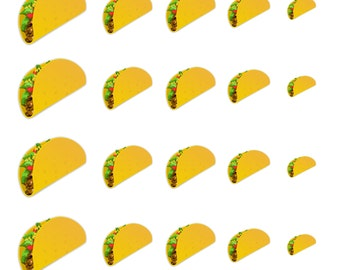 Taco // Fast Food // Junk Food // Summer // Nail Decals Transfer Nail Stickers