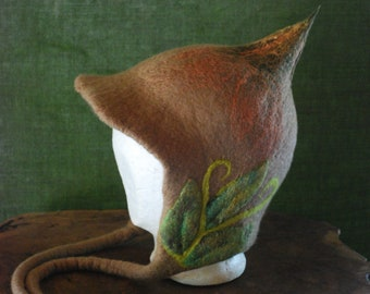 Felted Forest Gnome Hat