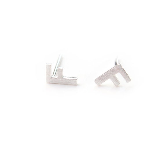 Sterling Silver f Stud Earrings my8ES