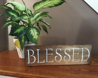 Stained Blessed Sign