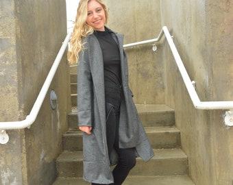 Long Grey Suiting Coat