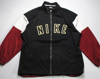 vintage NIKE Track Jacket rare SIZE XL big logo old school acid