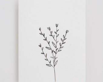 Floral Card - Little Plant - Greeting Card