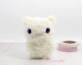 Cat Plush - Mini Cat - Cute Plush - Cat Stuffed Animal - Kawaii Plush - Cat Keychain - Gift For Her - Cat Amigurumi - Mothers Day Gift Idea
