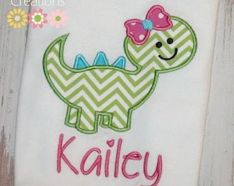 Girl Dinosaur Shirt, Girl Birthday Dinosaur Shirt, Dinosaur shirt for girls, Girl Birthday shirt, Girl dinosaur outfit, sew cute Creations