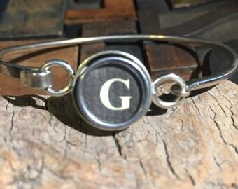 G typewriter key bracelet