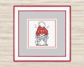 Rabbit Counted Cross Stitch Kit - Rabbit 1 - R01