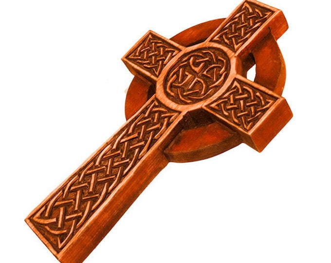 Celtic high cross from Isle of Man wall sign