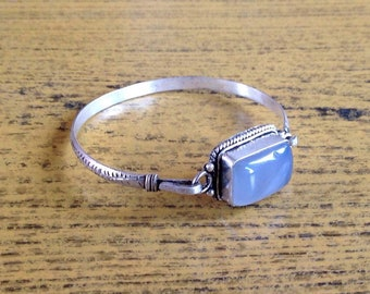 Tibetan Moonstone Cuff Bracelet