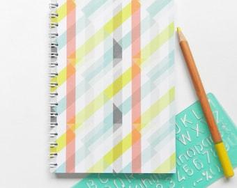 A6 Spiral Bound Geometric Notebook