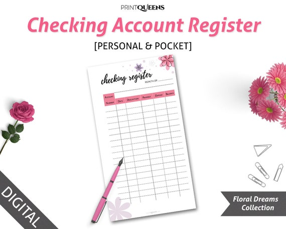 Registro de cuenta de cheques financiamiento de imprimir