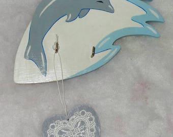 Dolphin wall key holder
