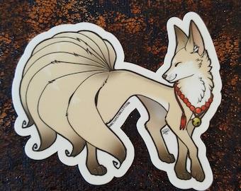 Nine Tailed Kitsune Sticker