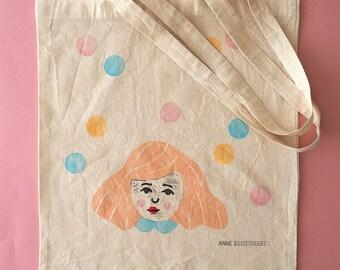 Hand printed tote bag