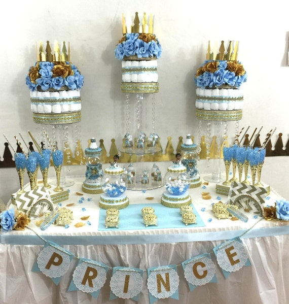 baby shower decorations for boys prince baby shower buffet cake centerpiece 29425