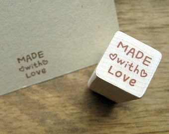 "Small Stamp ""Made with LOVE"", U2360"