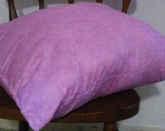 Hand Sewn /Handmade Pillow Light Pink/Purple Stars and Suns