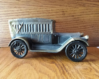 1970 Cast Iron Antique 1917 Pierce Arrow Coin Savings Bank in Antiqued Bronze by Banthrico