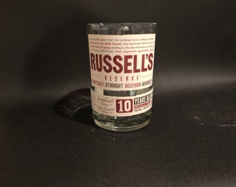 Wild Turkey Candle/Russell's Reserve 10 Year Bourbon WHISKEY BOTTLE Soy Candle. Made to Order !!!!! Russels Reserve Candle