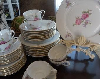Vintage Fine Bohemian China Eight Piece Dinner Set & Bohemian dinnerware   Etsy