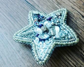 Brooch star handmade