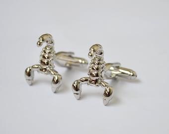 Silver Scorpion /Cufflinks/Scorpio/Cufflinks for men/Cufflinks Scorpion/Gift Mens/Animal/gift/Gift for men/Men's Cuff Links & Accessories