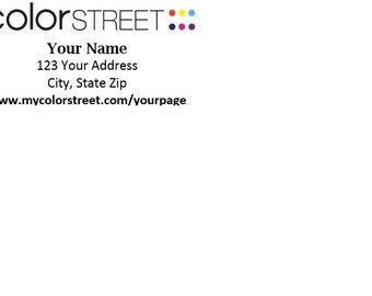 Return Address Labels (Color Street Stylist)