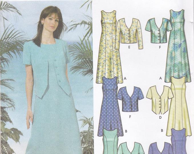 FREE US SHIP 5957 Sewing Pattern Size 6 8 10 12 Bust 30.5 31.5 32.5 34  Factory Folded Dress Waistcoat Jacket Factory Folded