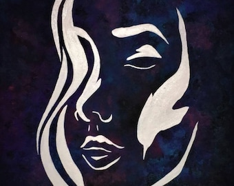Silhouette of Woman's Face