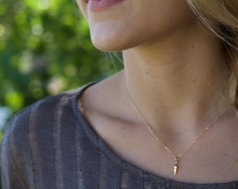 Spike Necklace, Gold Spike Necklace, Tiny Spike Necklace, Delicate, Minimalist Necklace