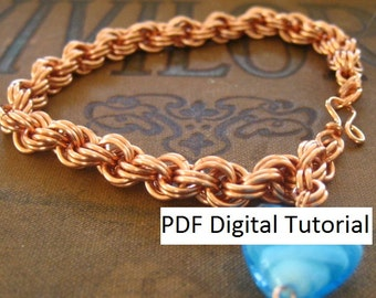 Double Spiral Weave Chainmaille Bracelet Digital Download Tutorial