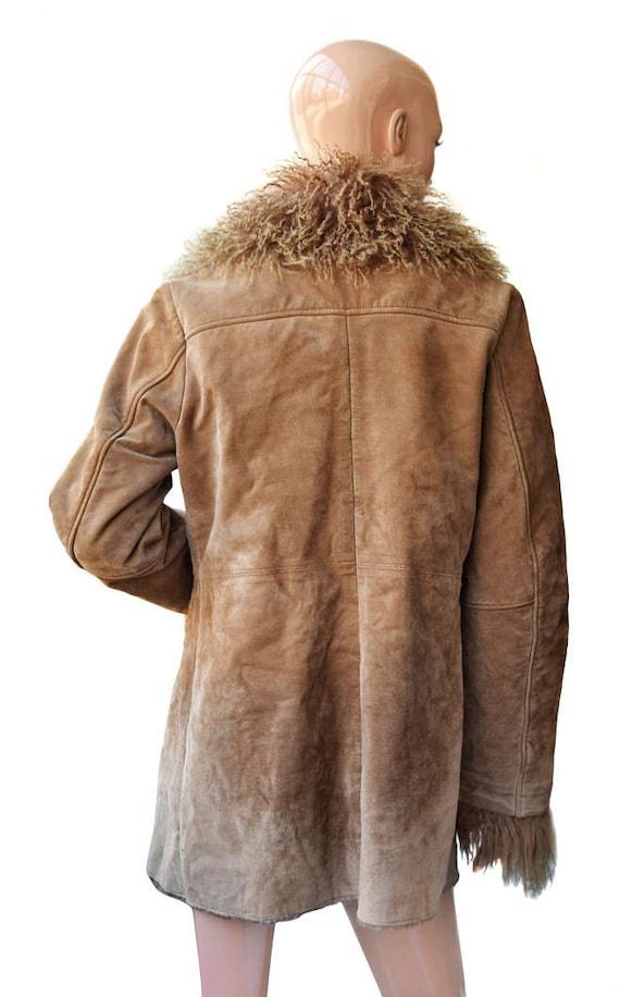Brown fur Fur coat fur Fur vintage coat coat Women Vintage fqPgSg