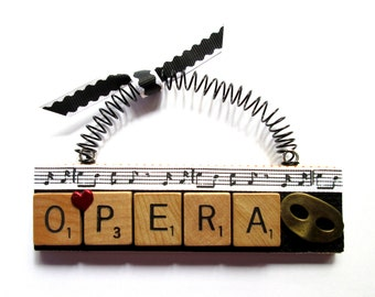 Opera Scrabble Tile Ornament