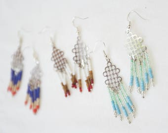Chandelier seed bead Earrings