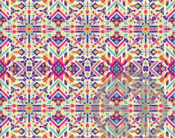 Ethnic Abstract Pattern printed indoor, outdoor, glitter, metallic decal VINYL or heat transfer vinyl HTV or applique FABRIC