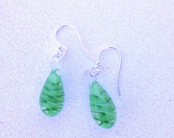 Spring green (peridot) Earrings with Sterling Silver ear wires