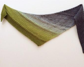Handmade Fashion Knit Scarf - Fashion Scarf - Wool Scarf - Women's Knit Scarf - Green