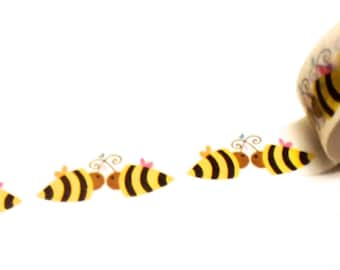 Bee Washi Tape, Washi Tape, Planner Tape, Planner Washi, Scrapbook Supplies, Smash Book Supplies, Paper Tape