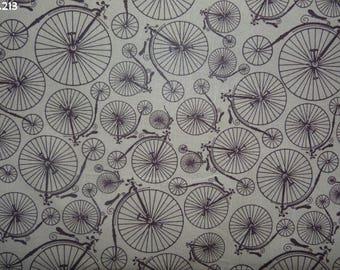 Fabric C213 coupon beige antique bikes 33x50cm